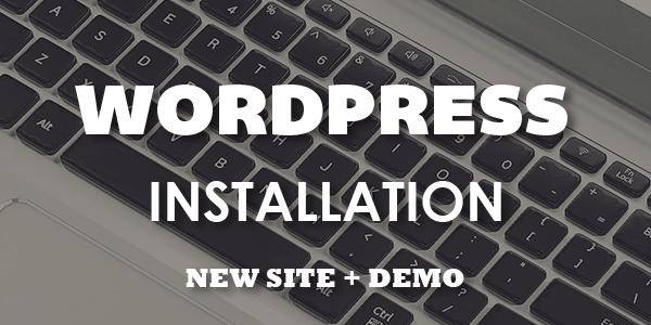 WordPress Installation + Demo (New Site)